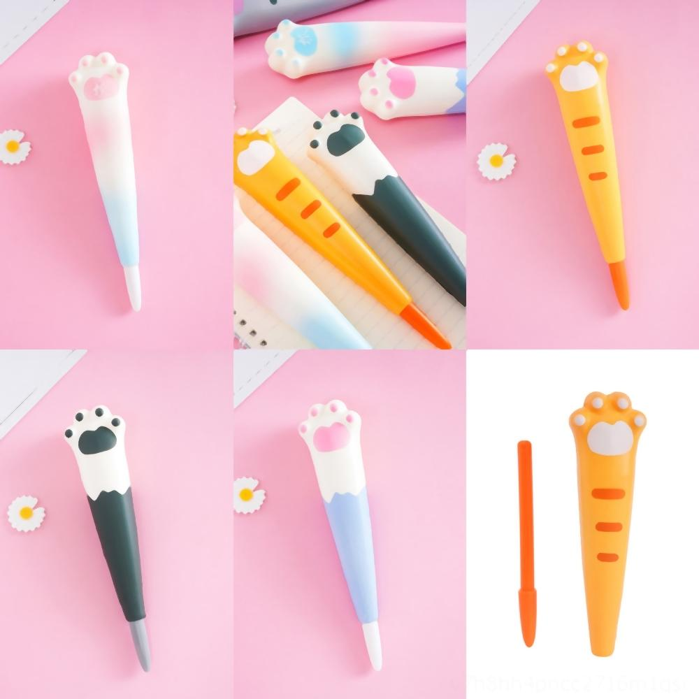 lAPXm Tools Nail stress reliever Cartoons Colored White Cover Nail Art French Tip Brushes Crystal Pen Brushes Drawing Pen UV Gel