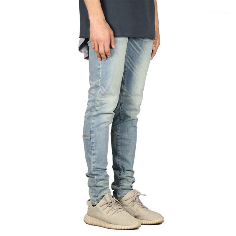 Vêtements pour hommes High Street Mens Designer Jeans Slim mode Washed Jeans Crayon Pantalons Hommes Casual Street Style