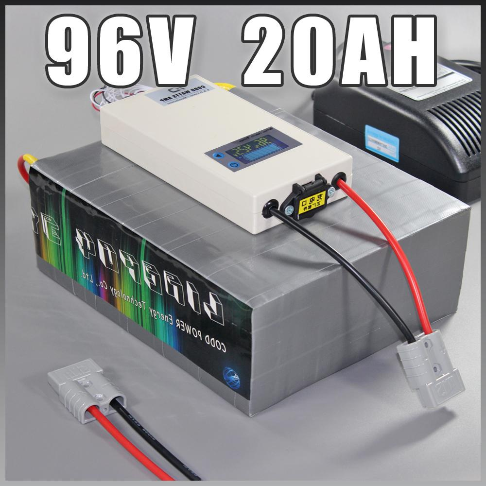 96V 20AH LiFePO4 litio ferro fosfato ciclo pacco batteria del motorino elettrico Moto Ebike profonda