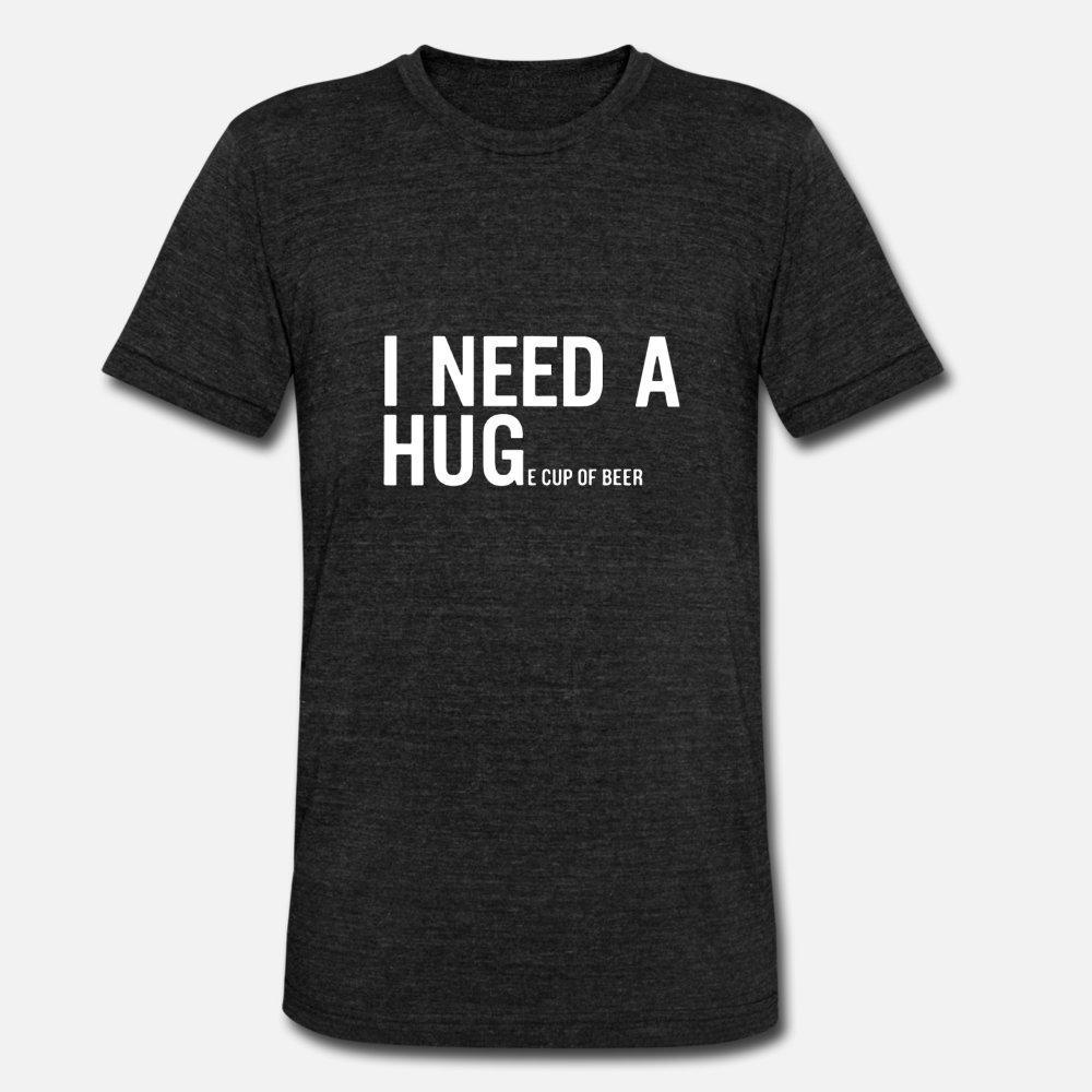 Мне нужен Гуса чашка пива Футболка Мужчины дизайнер Хлопок круглый воротник Тонкий Graphic Повседневный лето тонкая рубашка
