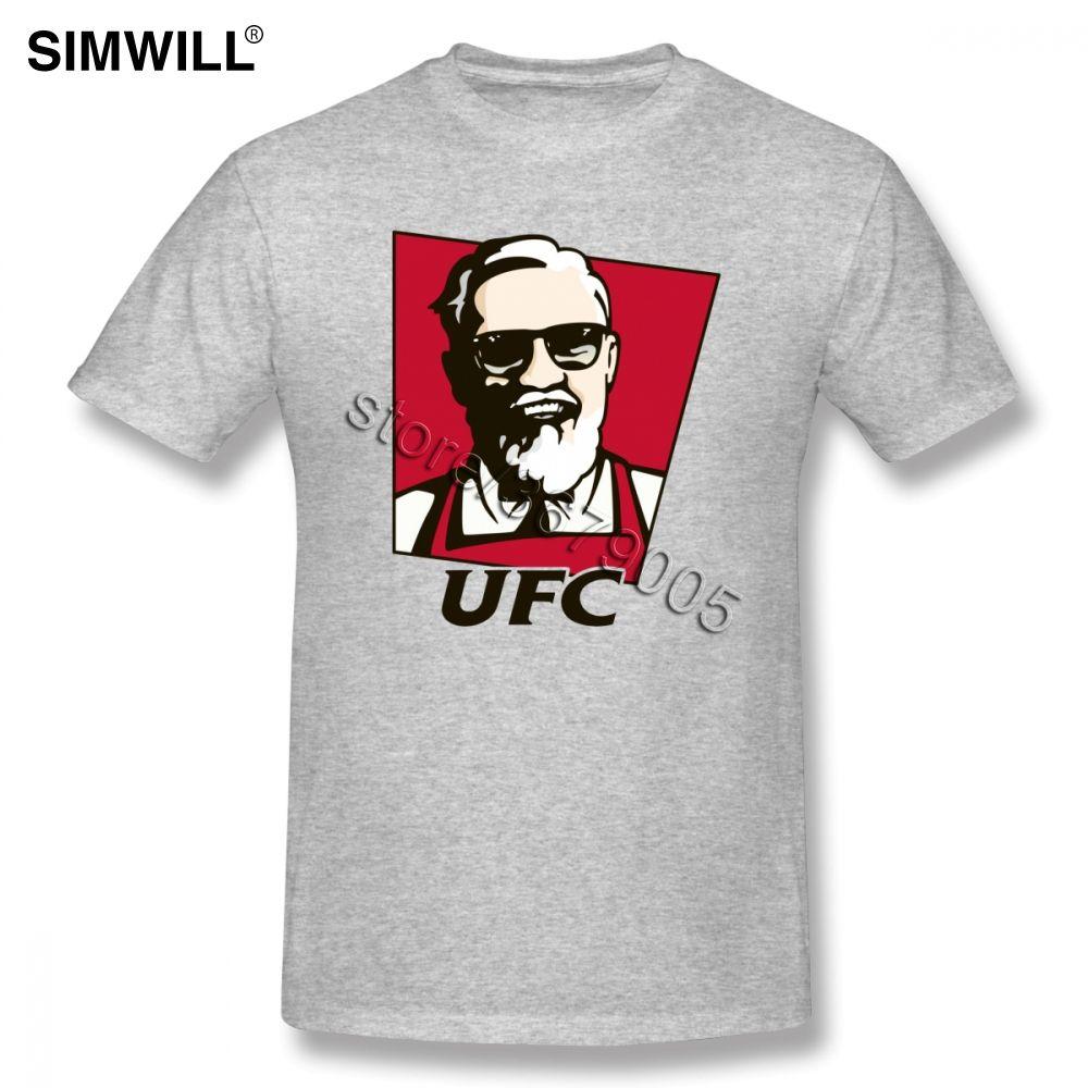 T manica corta Uomini divertenti Conor Mcgregor T-shirt Mma Tees camicia di lusso morbido cotone estate maglietta girocollo Slim Fit