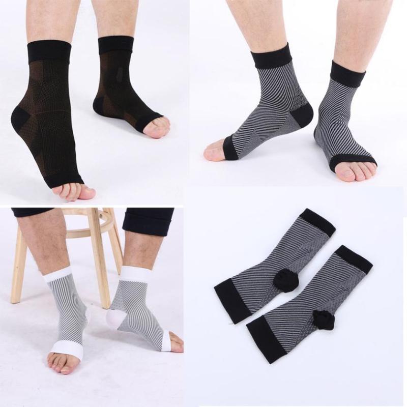 NUOVI uomini Donne Anti Fatica flessibili maniche piede di compressione calzini corti comodo di alta qualità calze da uomo Erexcise fisica