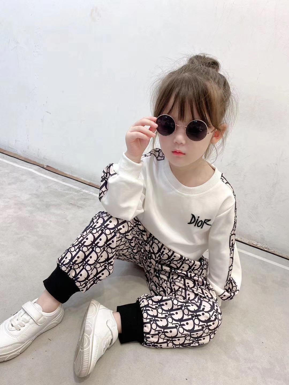 2pcs fashion girls clothing set soft kids girls hoodies top pant children clothing set