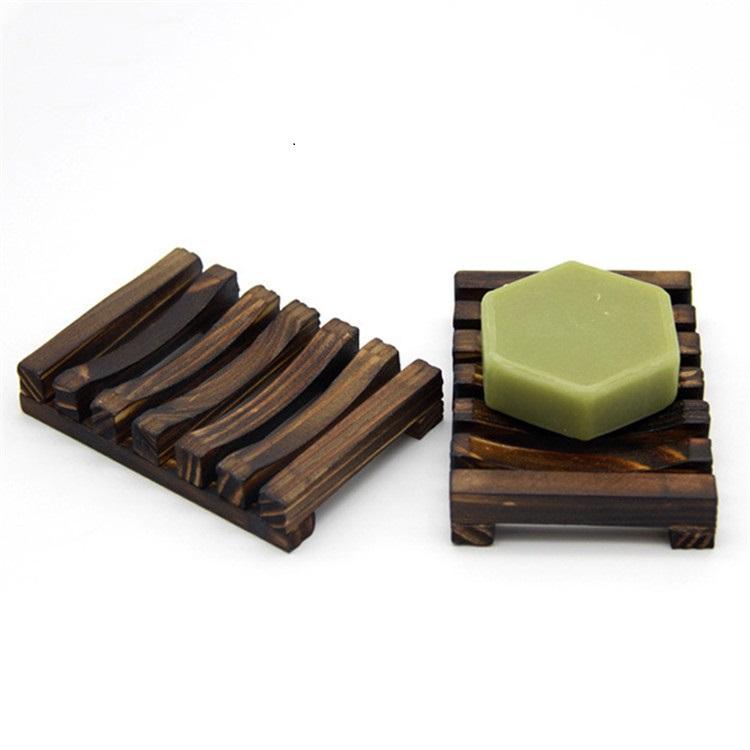 11 * 8 * 2.5cm Natürliche Holz Bambus Seifenschale Tablett-Halter-Speicher Seife Rack-Platten-Behälter für Bad Dusche Platte Badezimmer