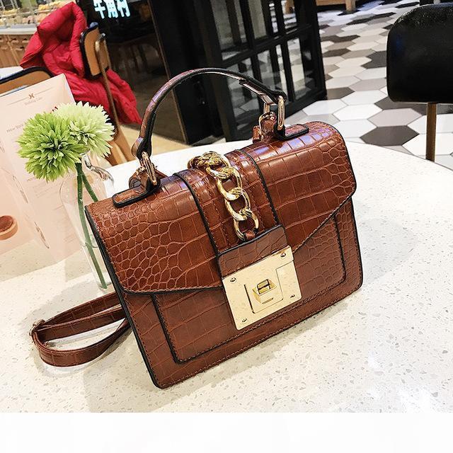 2020 Neue Alligator Umhängetaschen Frauen Designer Kette Handtaschen Luxus PU Leatehr Crossbody Bag für Frauen Kleine Flap Famals Geldbörsen