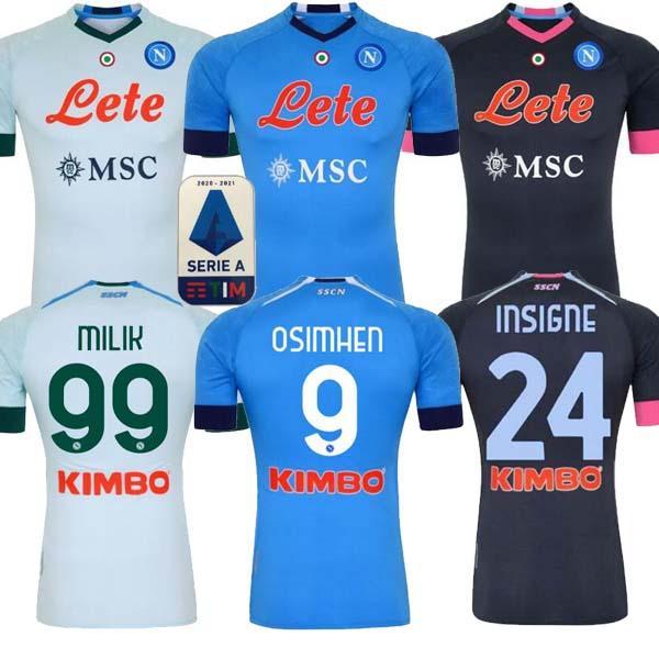 20 21 Napoli 축구 유니폼 나폴리 축구 셔츠 2020 2021 Koulibaly Camiseta de fútbol insigne milik maillots h.lozano mertens 남자 아이들