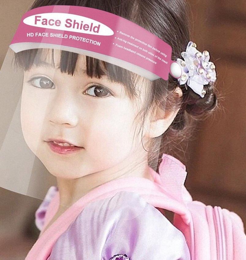 Meninos crianças cara das meninas Escudo Máscara Facial Anti respingo de plástico claro anti nevoeiro de segurança máscara máscaras Escudo Ferramenta Limpar protetora dos olhos LJJK2362-1 NBTY #