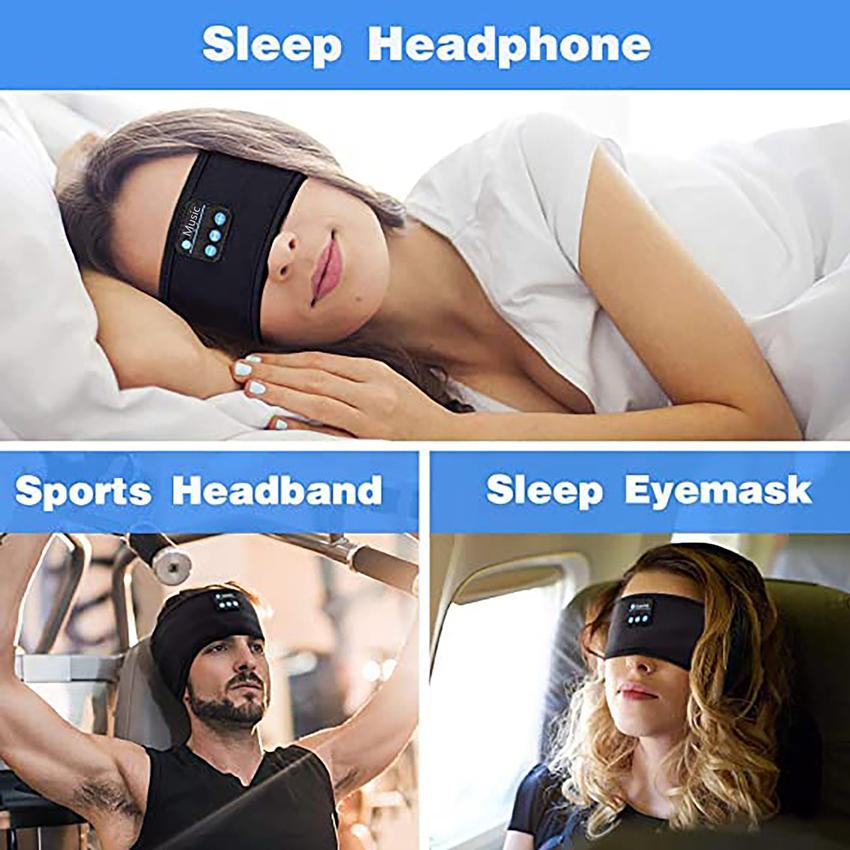 Sono auscultadores Bluetooth Headband Mp3 Chapéus upgrage macia Dormir Wireless Music Dormir Headsets perfeito para correr Workout