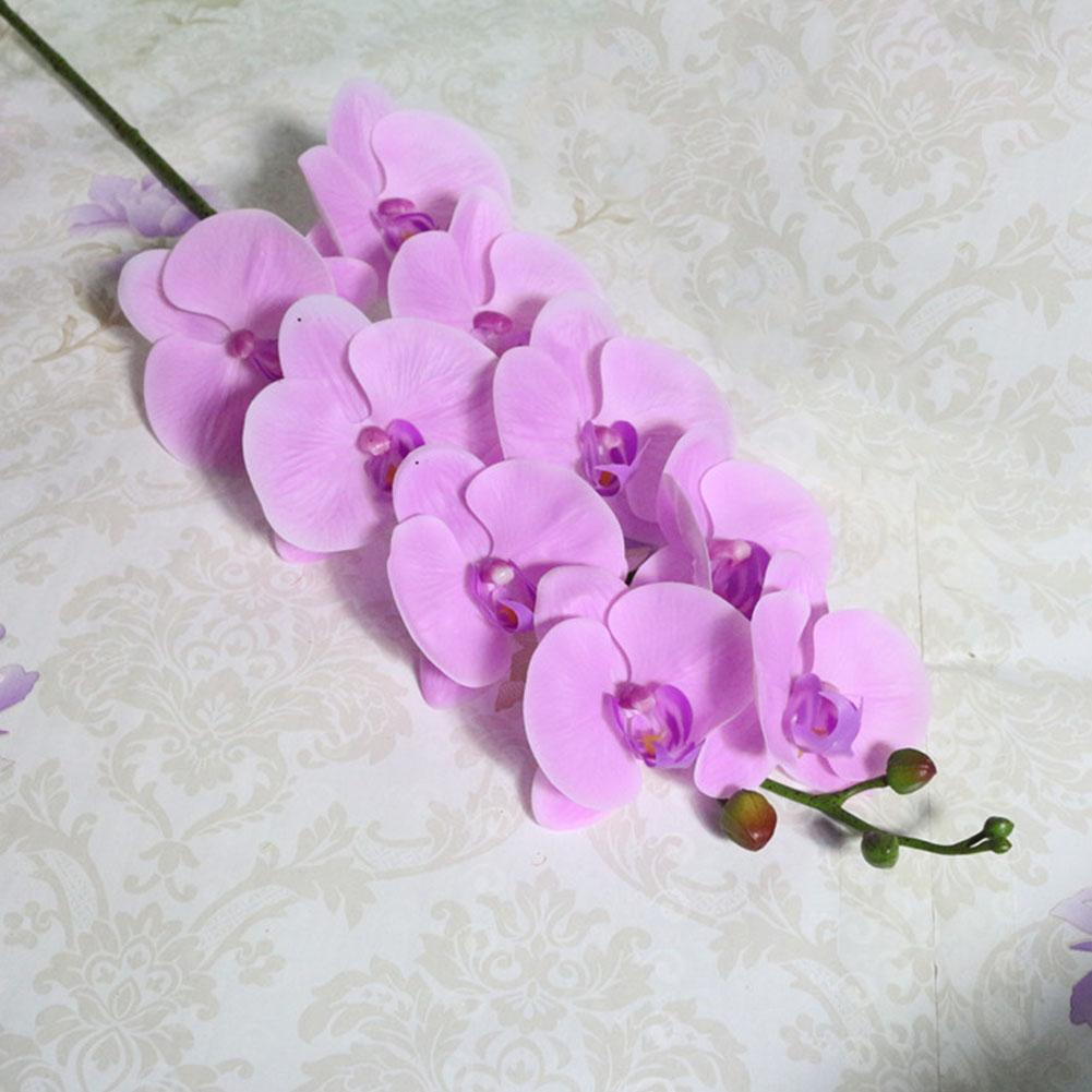 Phalaenopsis Home Geschenk Leichte Simulation Orchid 9 Blumen Künstliche Pflanze