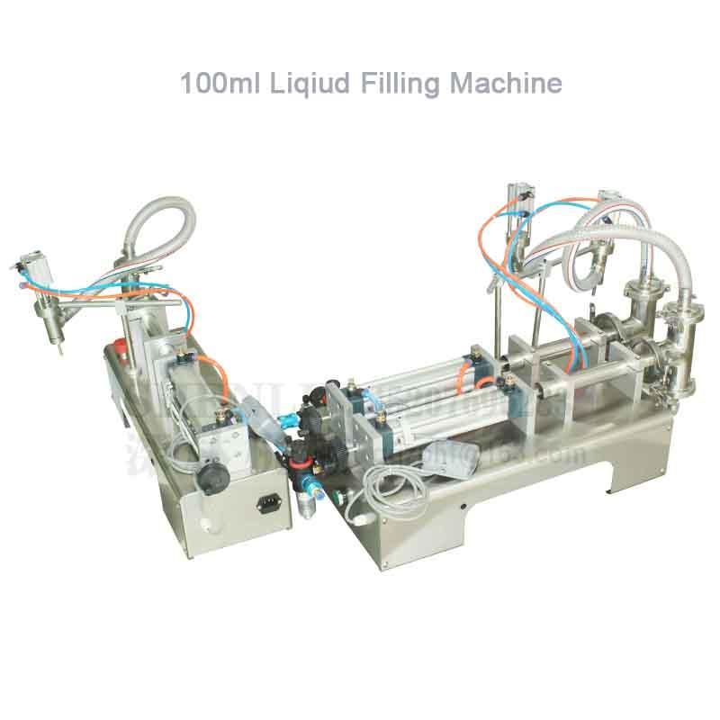Máquina de llenado de mesa de relleno líquido equipo de llenado automático de la botella 10-100ml doble cabeza shenlin relleno