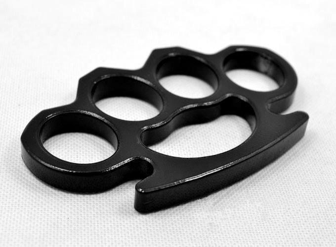 Equipamentos de Proteção de aço junta de bronze Dusters prata e preto Auto-Defesa Pessoal EDC Segurança Tools Mulheres Homens auto-defesa