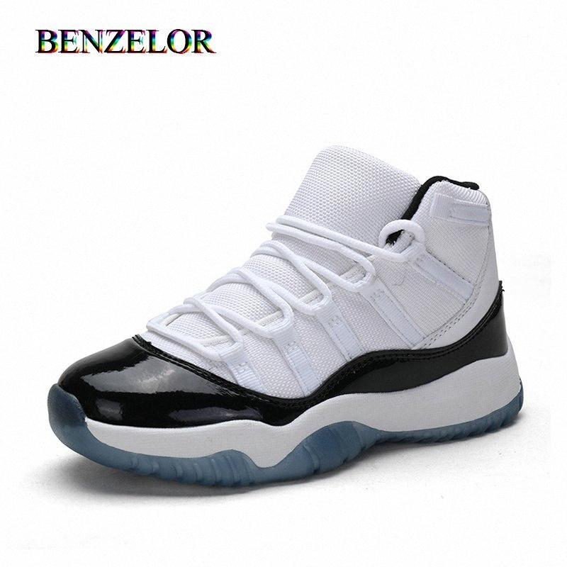 BENZELOR High Top Спортивная обувь для мальчиков Кроссовки Детские футбольные бутсы детей Повседневный подросток дышащий высокого качества bwNC #