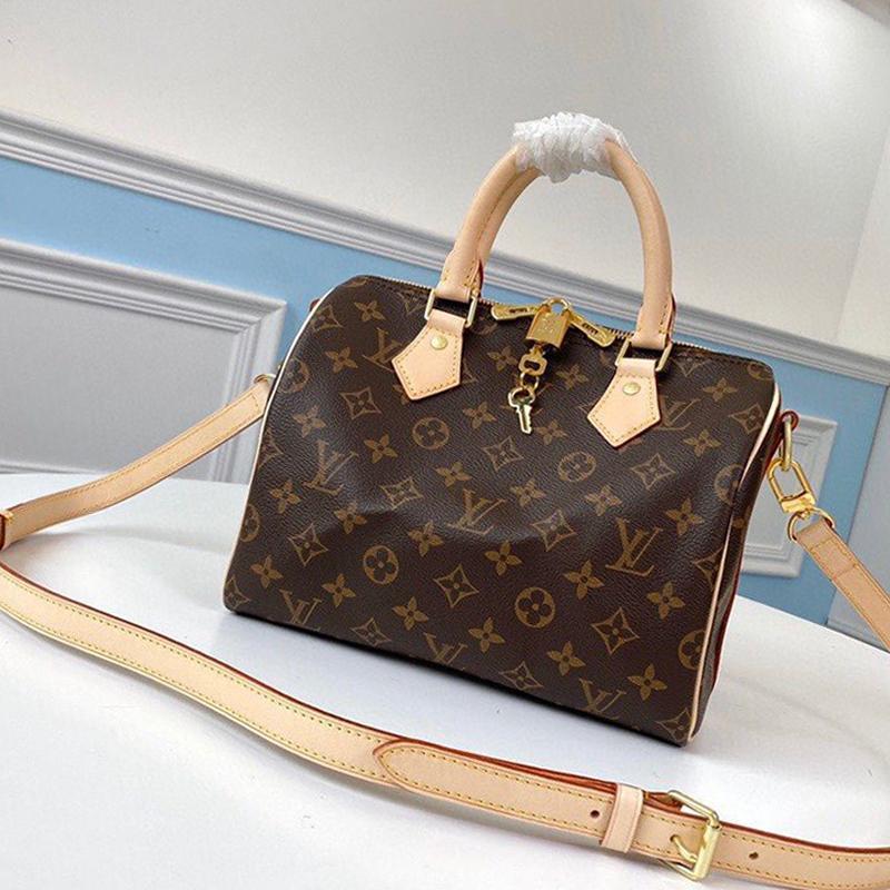 Speedy Bandouli Ere 25 Womens Bag classico stile del progettista Borsello in cuoio delle signore della chiusura lampo borse a spalla Kuitixm Donne Top Handle Totes