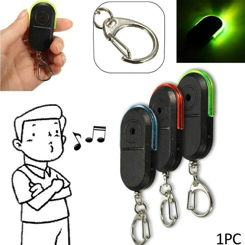 Mini anti-perte Localisateur de clés sans fil Smart Alarm Tag clé Keychain Locator Tracker Whistle son LED Things Tracker