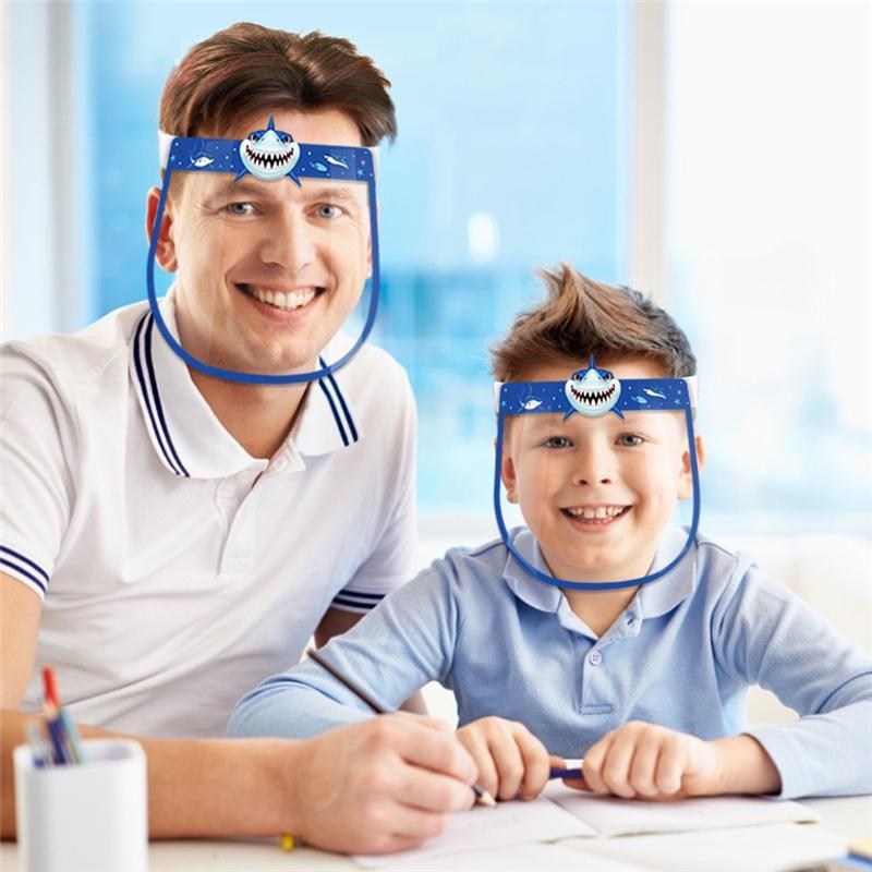 35 Styles crianças enfrentam Segurança escudo transparente tampa protetora Film nevoeiro Anti-Shield Face Face completa premium PET partido Máscara DWF626