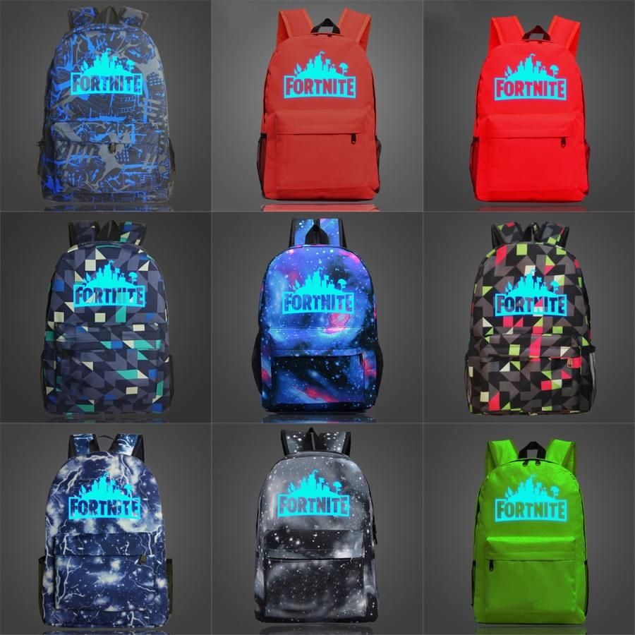 The Hold Fray Fortnite Fortress Noite Luminous Backpack Joe King mochila My Rock Hand Bag Banda Schoolbag Música Mochila Desporto Escolar Outd # 916