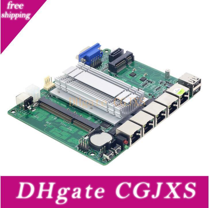 Double -Core Mini mère J1900 réseau unique Port Six Integrated Graphics Port série 17x17mini Conseil de contrôle industriel