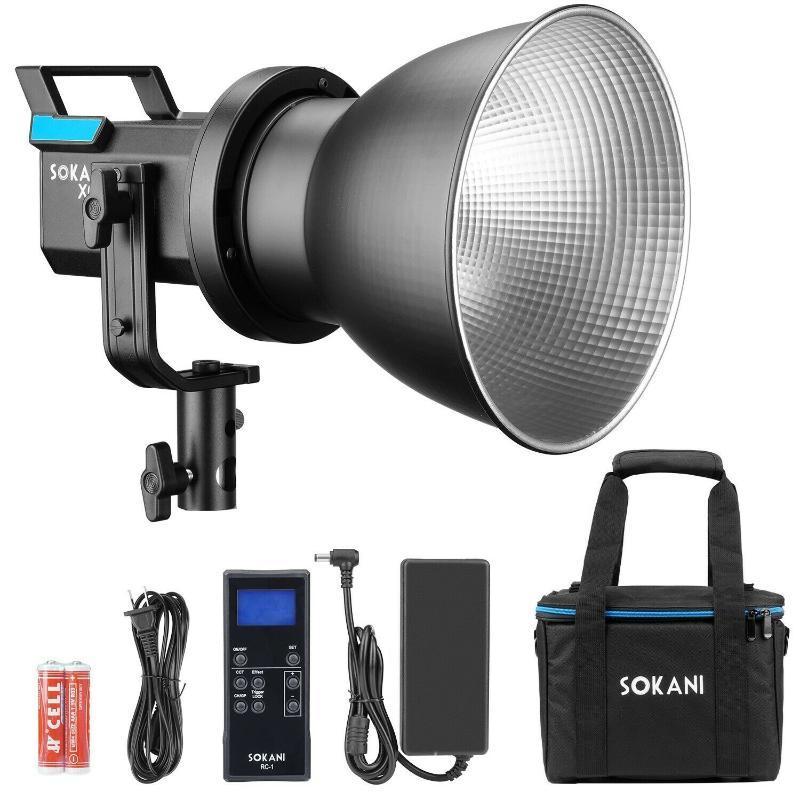 Sokani X60 LED 80W Vidéo Lumière 5600K Lumière du jour extérieur Photographie Éclairage avec Bowens Mont 2.4G télécommande pour appareil photo