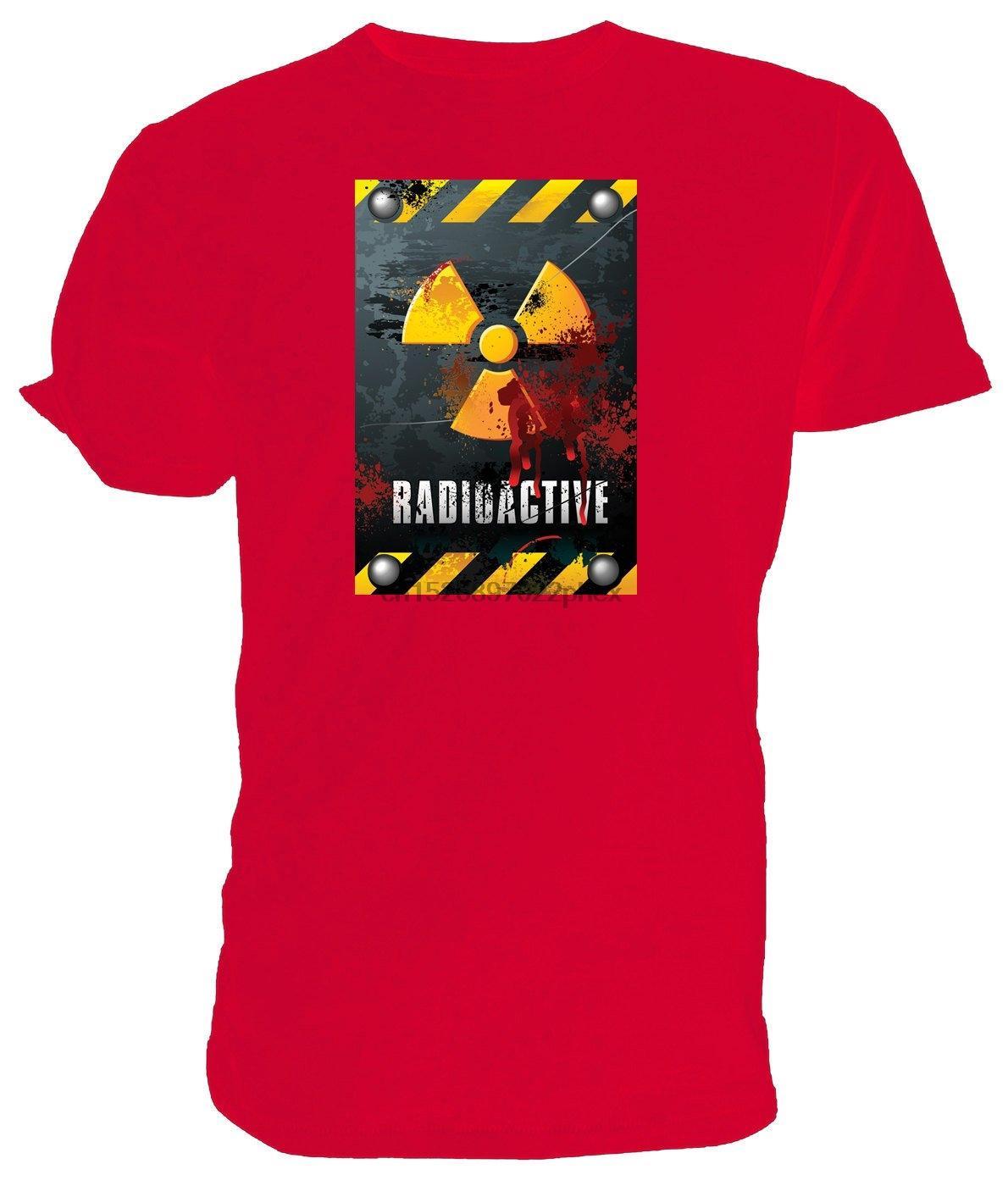 shirt do perigo radioativo T clássico em torno do pescoço curto escolha mangas da camisa tamanhos e homens cores t
