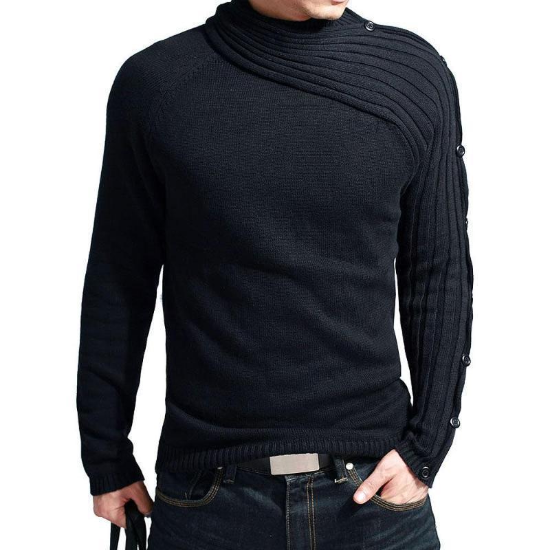 Maglione Pollovers Uomini Brand Brand Casual Slim Maglioni Uomo Sciarpa Collare Fitto Copertura Dolcevita Dolcevita Maglione da uomo XXL
