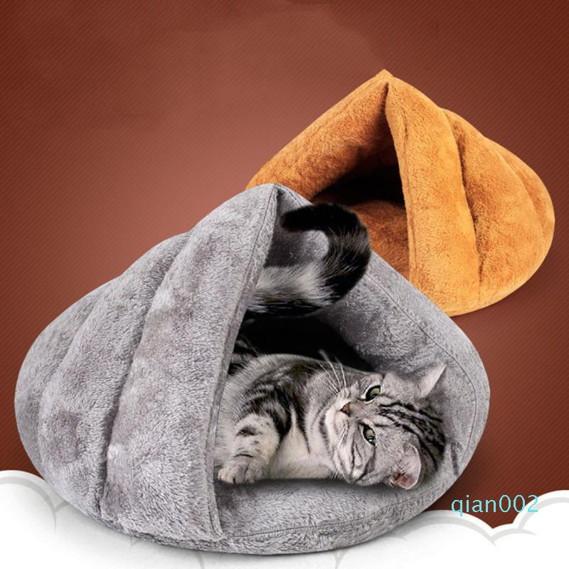 Winter Pet Cat Bed Small Dog Puppy Kennel Sofa Polar Fleece Material Bed Pet Mat Cat House Sleeping Bag Warm Nest #442
