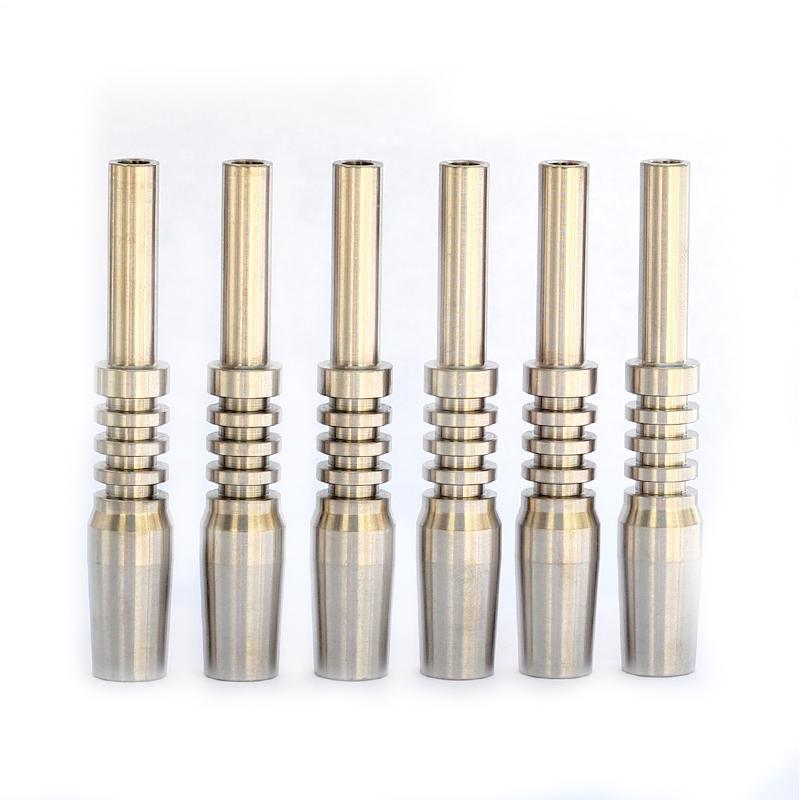 Suggerimenti Mini titanio Tip Nectar Collector Tip Titanium maschio del chiodo comune Micro NC Kit invertito Nails Lunghezza 40 millimetri Ti Nail Narghilè
