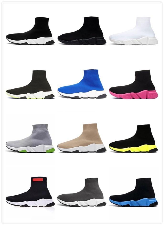 2020 nuove scarpe di velocità piattaforma calzino mens allenatore delle donne calzini scarpe casual epoca triplicatore nero stivali étoile bianche scarpe da ginnastica di sport