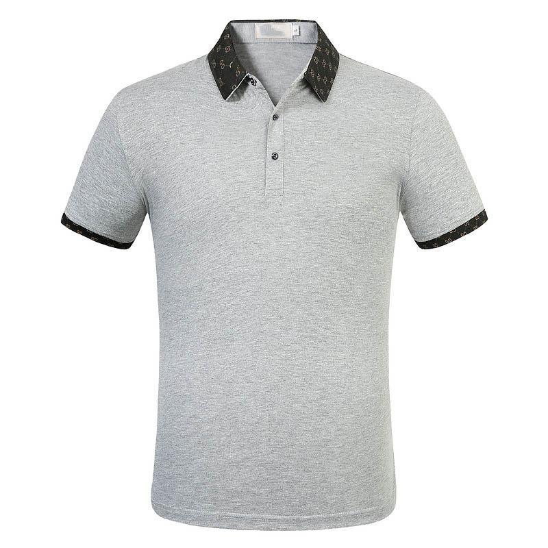 Lüks moda klasik erkek mektup gömlek pamuklu erkek tasarımcı tişört siyah beyaz tasarımcı polo gömlek erkek M-3XL