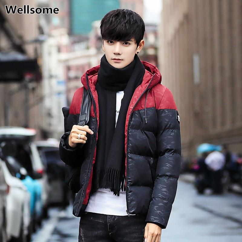 Winter Men Parka Jacket Hooded Mens Parkas Thicken Warm Casual Zipper Men's Coat High Quality Cotton-Padded Overcoat Outerwear