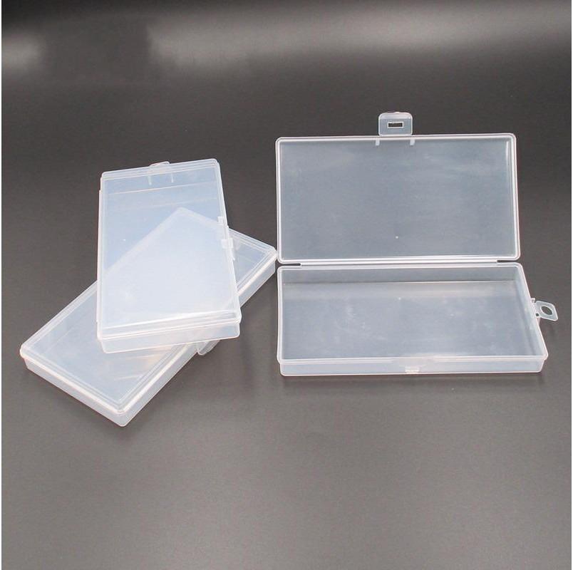 Transparent Rectangle Plastic Case 2cm PP Empty Mask Storage Box Snap Fastener Simple Organizer Portable Home Furnishing 0 5np G2