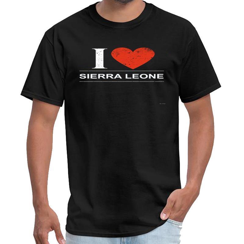 Personalizzate di I Love Sierra Leone abbigliamento vintage uomini mens maglietta bianca XXXL 4XL 5XL top tee