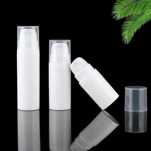 NEW 5мл 10мл белый безвоздушного Лосьон насоса Бутылка Mini образца и испытания бутылки безвоздушного Контейнер Косметическая упаковка