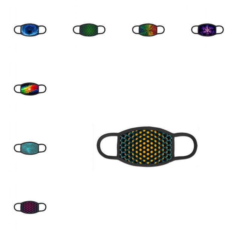 Waschbare Tuch-Gesichtsmaske Staubdichtes Mascarilla Anti Haze Respirator PM2.5 Kein Filter Element 3D-Muster Frau Mann 5JQ D2