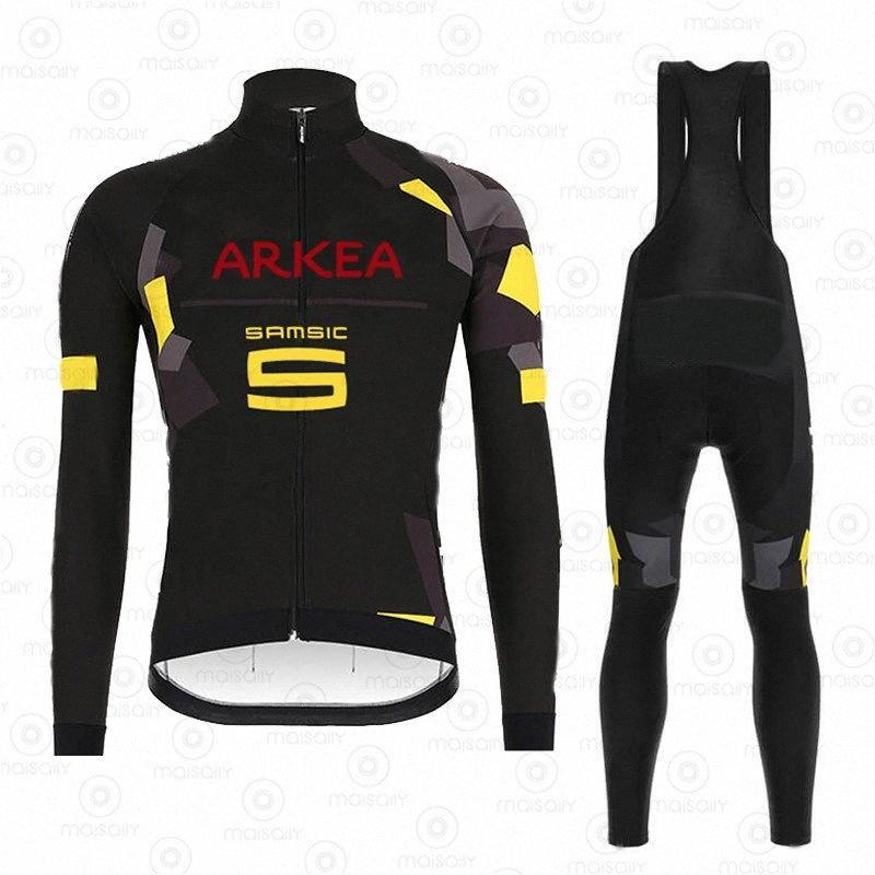 2020 2020 Pro Team Primavera térmica terno de lã Ciclismo Roupas Men Long Sleeve Jersey Pants Outdoor Bicicleta da equitação MTB Roupa Bib Set 4YaU #