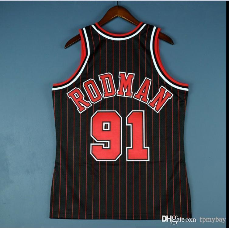 Custom Hommes Jeunesse Femmes Vintage Dennis Rodman Mitchell Ness 95 96 Collège Basketball Jersey Taille S-4XL ou personnalisée N'importe quel nom de nom ou numéro de numéro
