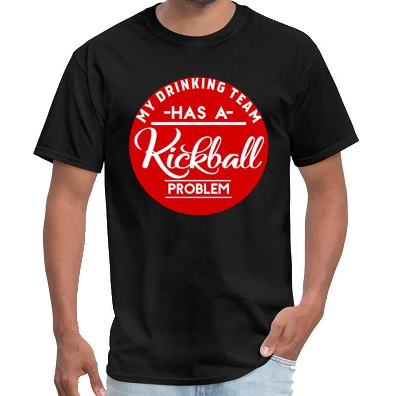 Смешной пьянства команда имеет Kickball Проблема Сааб тенниску мужской женский TYLER футболка 3xl 4xl 5xl 6XL тройник верхней