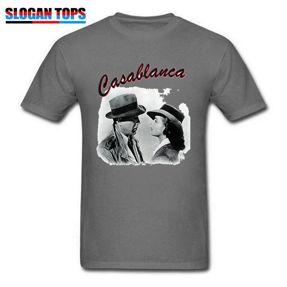 Classique T-shirt Casablanca hommes Hauts coton T-shirt Hollywood Film Couple personnalisé Clothes cadeau Lovers romantique T-shirt noir T-shirts