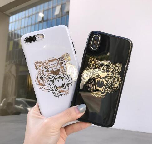 Moda stampaggio cassa del telefono Tiger per iPhone Xs Max Xr Xs 7 più 6 6S più 8 8plus X Mobile coperture del telefono di consegna bella confezione