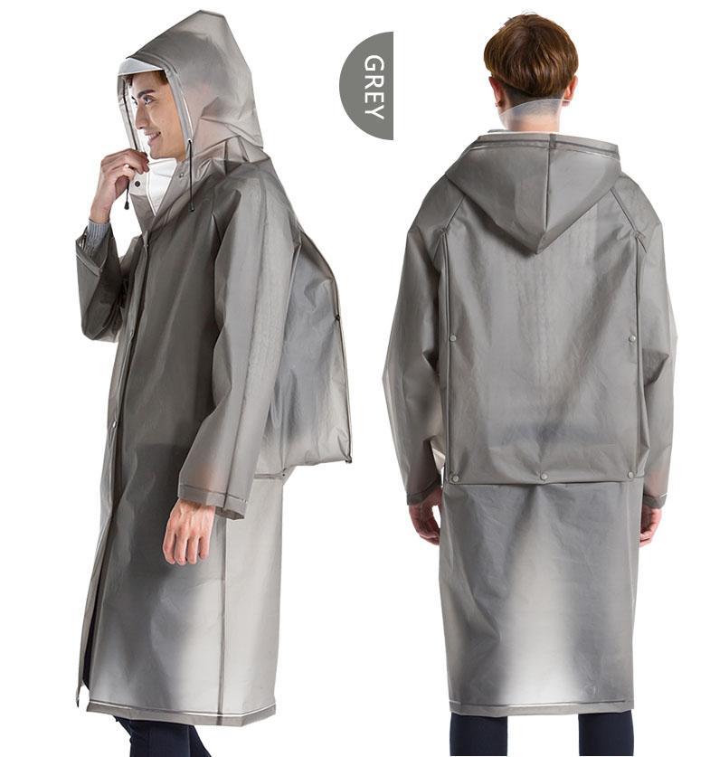 Yuding Raincoat EVA épais à long Rainwear universel Poncho Manteau imperméable Randonnée à capuchon pluie Inclure Cartable Position