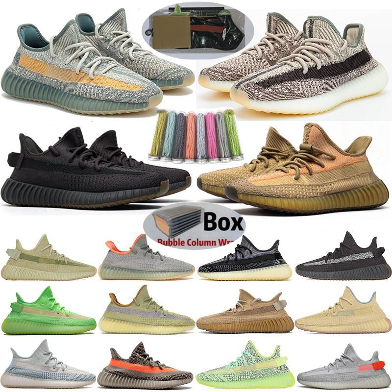 2020 Luz da cauda Asriel Israfil Oreo sábio do deserto Terra estática Cinder kanye west Bred Running Shoes ABEZ Zyon V2 Homens Mulheres Sneakers