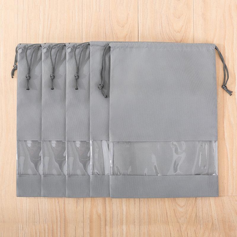 viagem sapato novo simples cor sólida não-tecido não-tecido saco de armazenamento de cordão de sapato saco perspectiva de armazenamento PVC