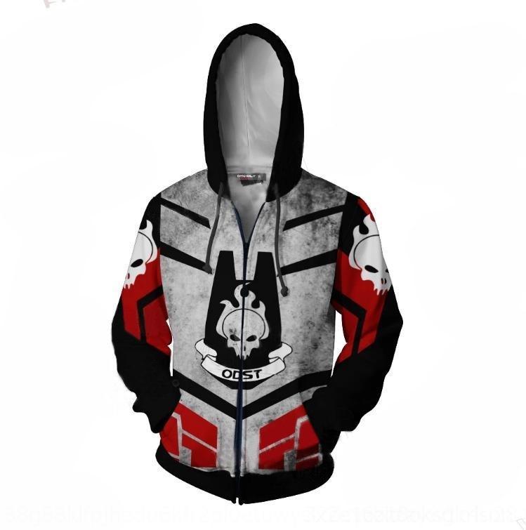 cosplay YEVIq Hot Halo serie 3D Halo gioco periferiche di stampa digitale maglione con cappuccio Digitalsweater Digitalzipper porta pullover con cappuccio