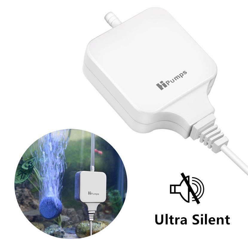 Aquarium Air Pump Mini Silent Compressor Outlet Oxygen Pumps for Aquariums Aquatic Fish Tank Ultra Low Noise Home Accessories