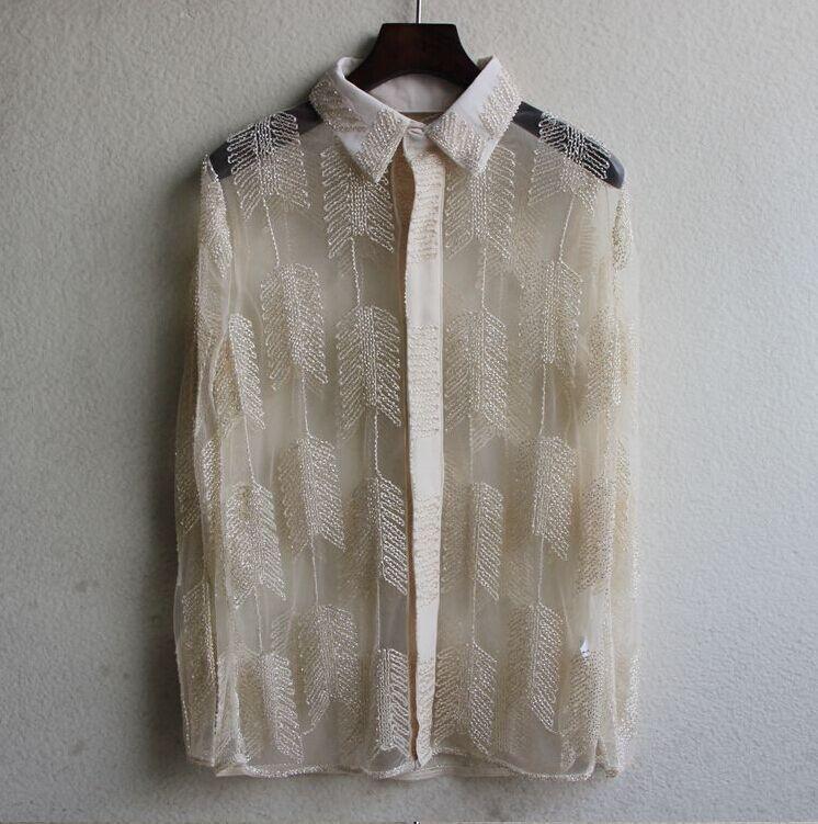 DFGhg Zetian женской сетки одежды лист рубашки женских бутики верхней одежды mVqtJ из бисер солнцезащитного крема солнцезащитного крема одежды одежды