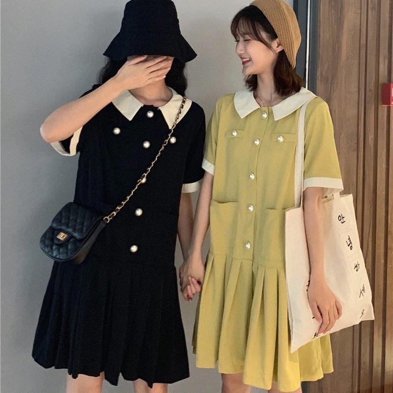 8819 # Maternidade roupa do verão moda algodão de manga curta soltas elegante vestido para Gestantes Mãe Vestido s5vP #