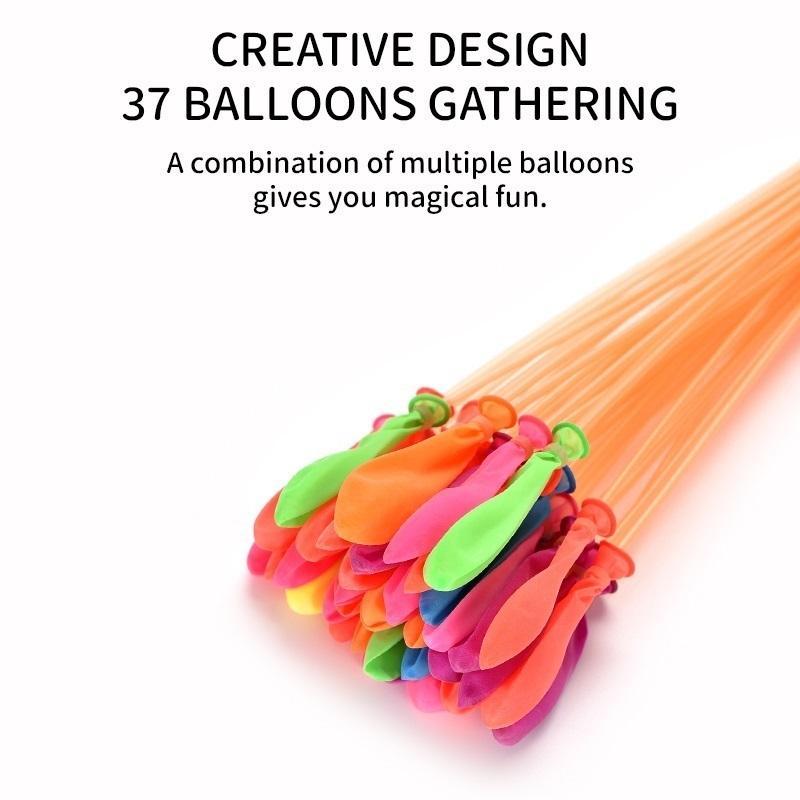 ballon d'eau magique ballon d'eau latex été remplissage facile Jeux de plein air Jouets pour enfants jouets Fun plage 111 pcs