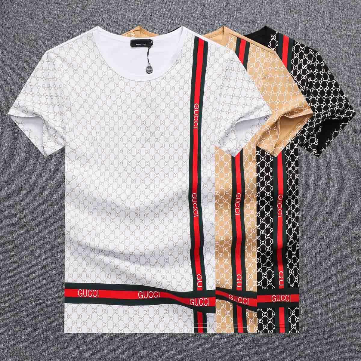 Los estudiantes de verano casual hombre del diseñador de moda Camisetas Tiger Impreso Hombres de manga corta remata tes camisa para hombre ropa de diseño FF