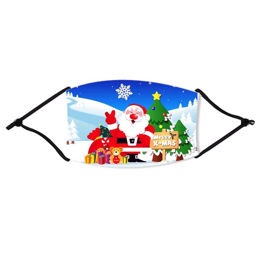 Ice soie Masque Visage de Noël avec masque respiratoire Valve Lavable Noël réutilisable PM2,5 anti-poussière de protection Masques de Noël Recycler # 72233 Mou