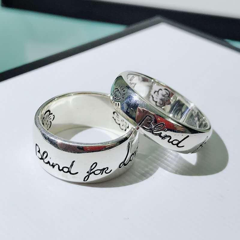 Лучшие продажи S925 серебро любовь бесстрашного пара дизайнер кольцо роскошь дизайнер ювелирных женщин кольцо