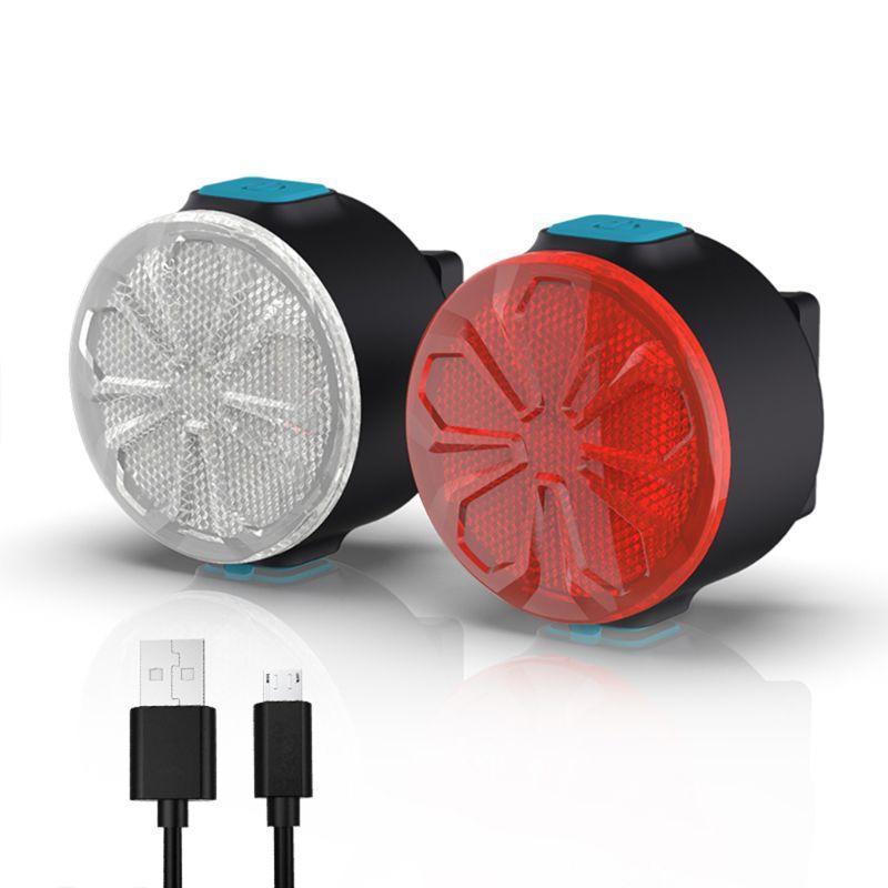 Велосипед свет безопасность предупреждение света водонепроницаемого сзади Tail LED USB аккумуляторного горного велосипеда Велосипед Хвост лампы